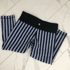 Lululemon Wunder Under Crops Striped
